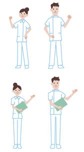 案内をする看護師の男性、女性の素材 [FYI01041237]