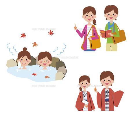 女性の二人旅(温泉)の素材 [FYI01041424]
