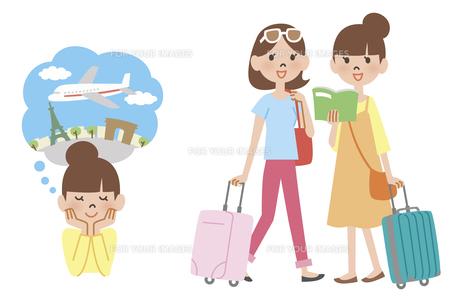 海外旅行に行く女性の素材 [FYI01041492]