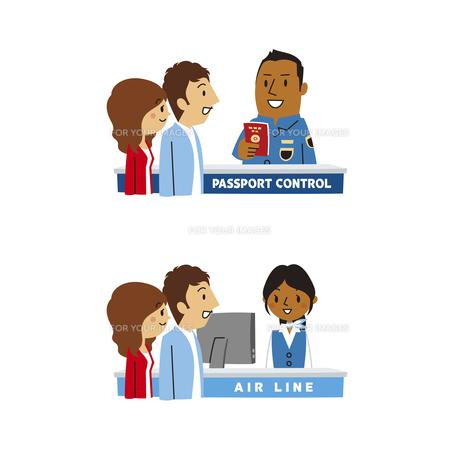 海外旅行/空港入国審査、チケットカウンターの素材 [FYI01041560]