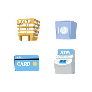 金融(銀行、金庫、カード、ATM)の素材 [FYI01041562]