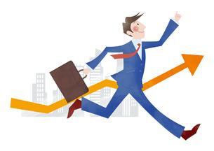 目標に向かって走るビジネスマンの素材 [FYI01041840]