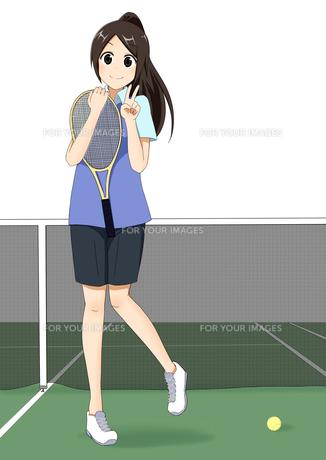 テニス部の女の子の素材 [FYI01042383]