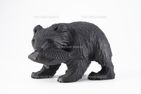 木彫りの熊の素材 [FYI01043273]
