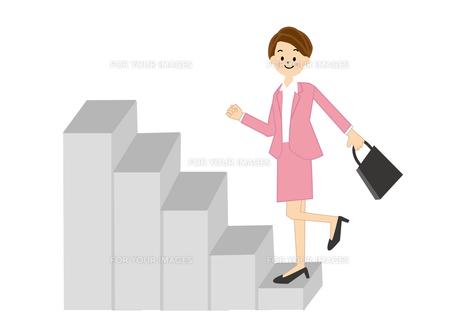 階段をかけあがる女性の素材 [FYI01043707]
