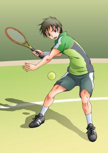 テニスをする少年の素材 [FYI01045945]