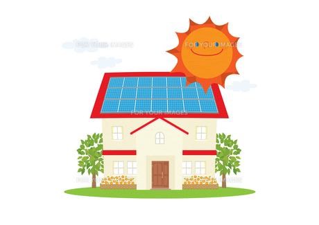 住宅の太陽光発電の素材 [FYI01046520]