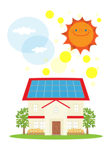 住宅の太陽光発電の素材 [FYI01046605]