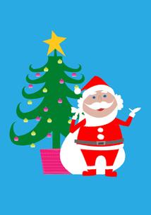 サンタクロースとクリスマスツリーの素材 [FYI01046732]