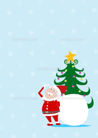 サンタクロースとクリスマスツリーの素材 [FYI01046766]