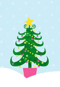 クリスマスツリーの素材 [FYI01046778]