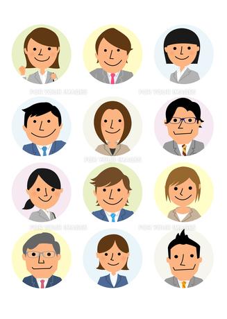 働く人々  ビジネス集団の素材 [FYI01047096]