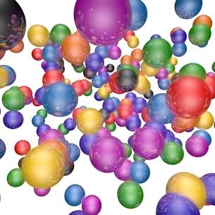 カラフルなボールの素材 [FYI01048381]