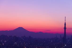 富士山とスカイツリーの素材 [FYI01048720]