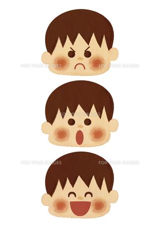 男の子 表情の素材 [FYI01051604]
