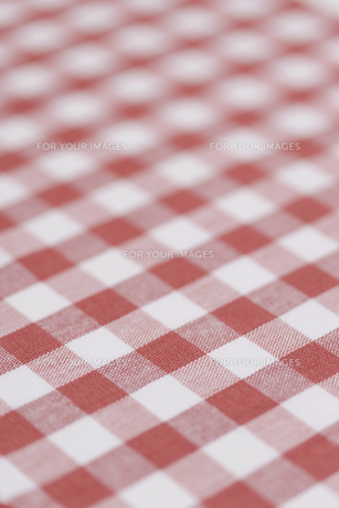 ギンガムチェックの布の素材 [FYI01058072]