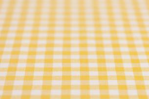 ギンガムチェックの布の素材 [FYI01058262]