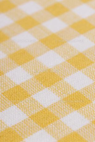 ギンガムチェックの布の素材 [FYI01058271]