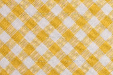 ギンガムチェックの布の素材 [FYI01058279]