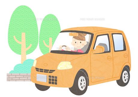 車に乗る女性の素材 [FYI01059998]