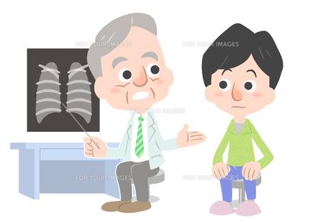 医者と患者の素材 [FYI01060000]