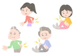 関節痛に悩む男性と女性の素材 [FYI01060009]