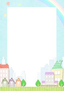カラフルな街の素材 [FYI01060011]