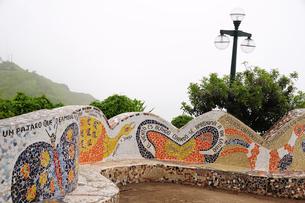 恋人たちの公園の飾りタイルの素材 [FYI01062943]