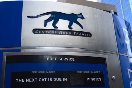 パース市街のCATのバスストップ表示の素材 [FYI01063823]
