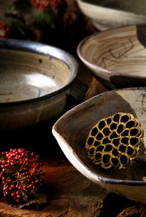 陶磁器とガマズミの素材 [FYI01065197]