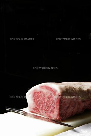 牛肉と包丁の素材 [FYI01065500]