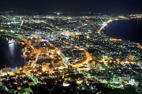 函館市街夜景の素材 [FYI01072029]