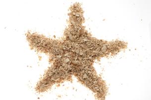 星マーク(おがくず)の素材 [FYI01074724]