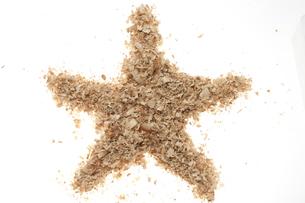星マーク(おがくず)の素材 [FYI01074786]