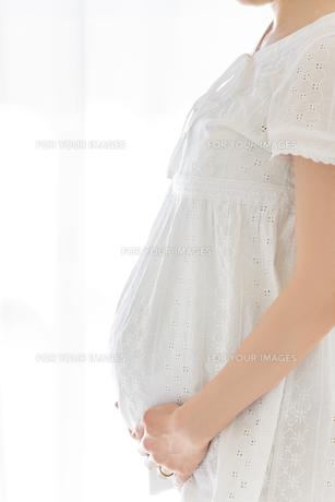 リビングでくつろぐ妊婦さんの素材 [FYI01075147]