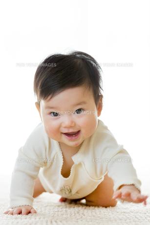 リビングで笑う幼児の素材 [FYI01075994]