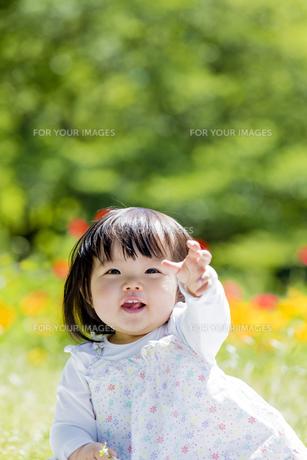 公園で笑う女の子の素材 [FYI01076227]