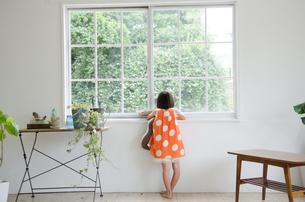 窓の外を眺めている女の子の素材 [FYI01077649]