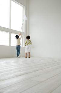 虫取り網を持つ子供たちの素材 [FYI01077723]