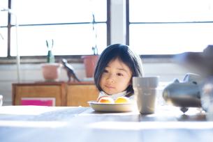 食卓にいる女の子の素材 [FYI01078756]