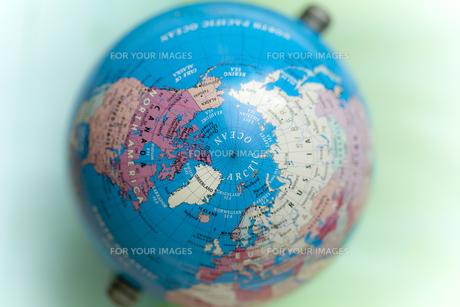 真上から見た地球儀の素材 [FYI01079379]