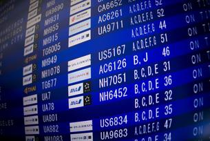 空港のインフォメーションボードの素材 [FYI01079458]