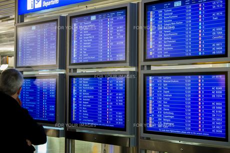 空港のインフォメーションボードの素材 [FYI01079664]