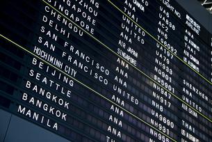 空港のインフォメーションボードの素材 [FYI01079699]