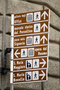 フィレンツェの道案内表示の素材 [FYI01080691]