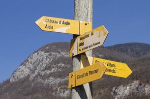 スイス エイグルの案内標識の素材 [FYI01082467]