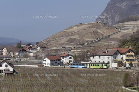 スイス エイグル Le Sepeyへの登山列車の素材 [FYI01082487]