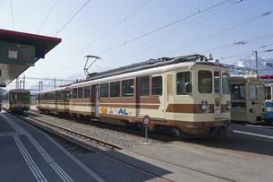 スイス エイグルとレザン間の登山列車の素材 [FYI01082512]