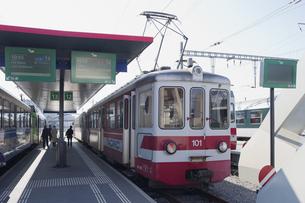 スイス エイグルでの登山列車の素材 [FYI01082558]