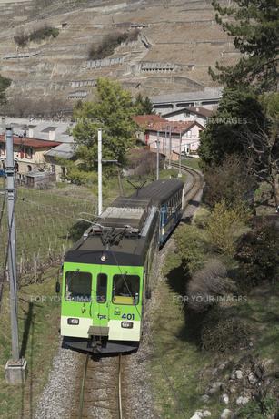 スイス エイグル Le Sepeyへの登山列車の素材 [FYI01082568]